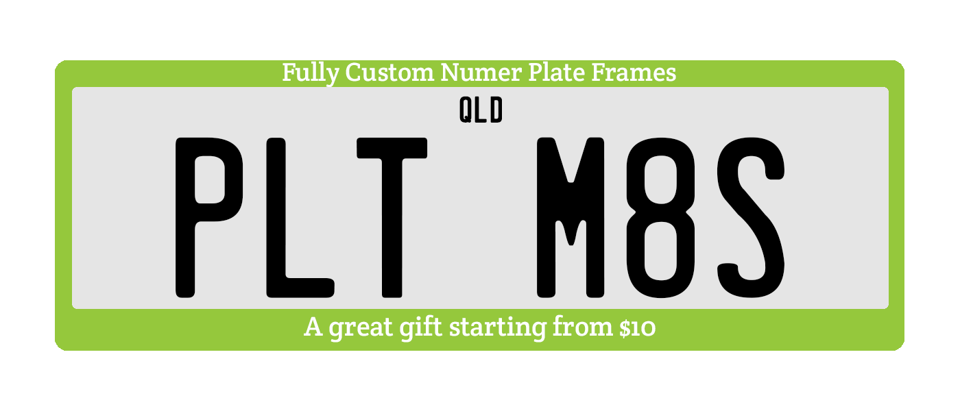 Number Plates Mates | Personalised number plate holders